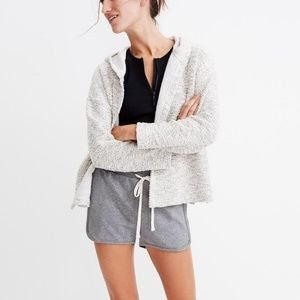 Madewell Textural Hooded Jacket Sweater XS Marled